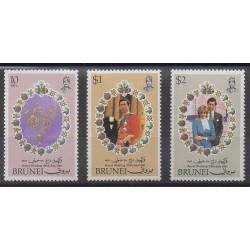 Brunei - 1981 - No 270/272 - Royauté - Principauté