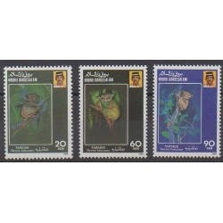 Brunei - 1990 - Nb 422/424 - Mamals - Endangered species - WWF