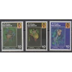Brunei - 1990 - No 422/424 - Mammifères - Espèces menacées - WWF