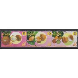 Brunei - 1990 - No 428/430 - Fruits ou légumes