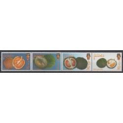 Brunei - 1988 - No 382/385 - Fruits ou légumes