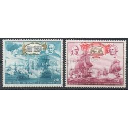 Polynésie - Poste aérienne - 1976 - No PA104/PA105 - Bateaux