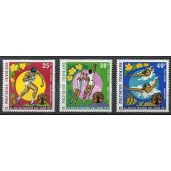 Polynésie - Poste aérienne - 1975 - No PA93/PA95 - Sport