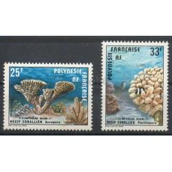 Polynésie - Poste aérienne - 1977 - No PA121/PA122 - Vie marine