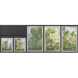 Kenya - 1985 - Nb 343/347 - Flowers