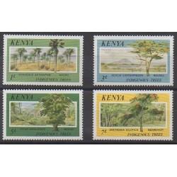Kenya - 1986 - Nb 352/355 - Trees