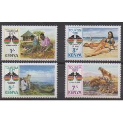 Kenya - 1987 - No 387/390 - Tourisme