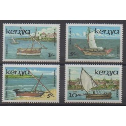 Kenya - 1986 - Nb 374/377 - Boats