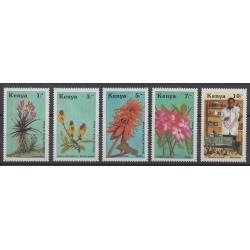 Kenya - 1987 - Nb 406/410 - Flowers
