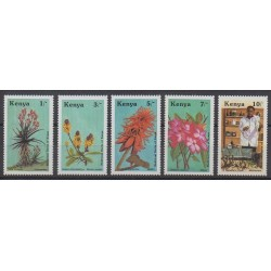 Kenya - 1987 - No 406/410 - Fleurs
