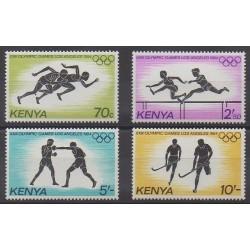 Kenya - 1984 - No 293/296 - Jeux Olympiques d'été