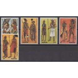 Kenya - 1984 - Nb 309/313 - Costumes - Uniforms - Fashion
