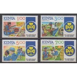 Kenya - 1985 - No 323/326 - Scoutisme