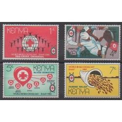 Kenya - 1985 - No 327/330 - Santé ou Croix-Rouge