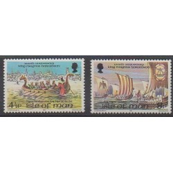 Man (Isle of) - 1974 - Nb 33/34 - Boats - Various Historics Themes