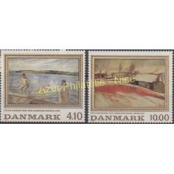 Danemark - 1988 - No 935/936 - Peinture