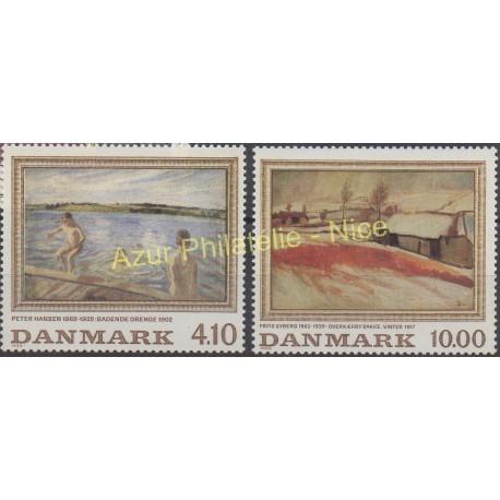 Denmark - 1988 - Nb 935/936 - Painting