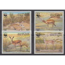 Bahrain - 1993 - Nb 489/492 - Mamals - Endangered species - WWF
