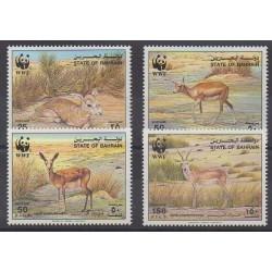 Bahreïn - 1993 - No 489/492 - Mammifères - Espèces menacées - WWF