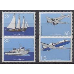 Portugal (Açores) - 1991 - No 411/414 - Navigation - Aviation