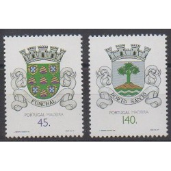 Portugal (Madeira) - 1994 - Nb 183/184 - Coats of arms