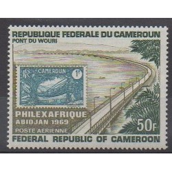 Cameroon - 1963 - Nb PA129 - Stamps on stamps
