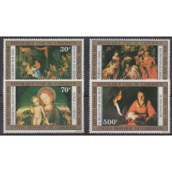 Cameroon - 1976 - Nb PA250/PA253 - Paintings - Christmas