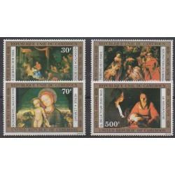 Cameroun - 1976 - No PA250/PA253 - Peinture - Noël
