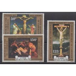 Cameroun - 1977 - No PA255/PA257 - Pâques - Peinture