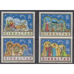 Gibraltar - 1989 - Nb 585/588 - Christmas