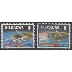 Gibraltar - 1991 - Nb 622/623 - Space - Europa