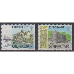 Gibraltar - 1987 - Nb 530/531 - Architecture - Europa