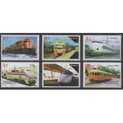 Dominique - 2004 - No 3078/3083 - Chemins de fer