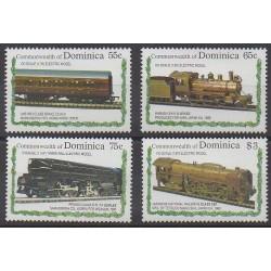 Dominique - 1992 - No 1445/1448 - Chemins de fer