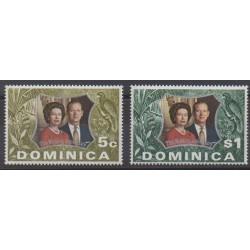 Dominique - 1972 - No 346/347 - Royauté - Principauté