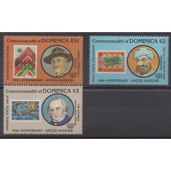 Dominique - 1985 - No 878/880 - Nations unies