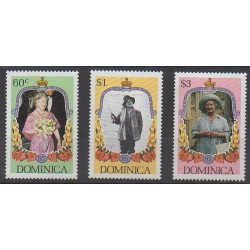 Dominique - 1985 - No 855/857 - Royauté - Principauté