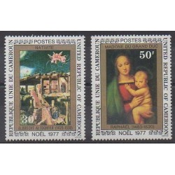 Cameroon - 1977 - Nb 617/618 - Christmas - Paintings