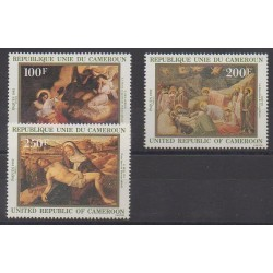 Cameroon - 1982 - Nb 681/683 - Christmas - Paintings - Easter