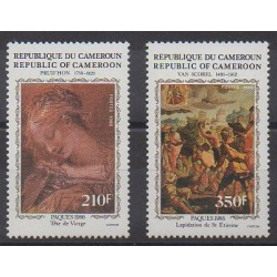 Cameroun - 1986 - No 785/786 - Pâques - Peinture