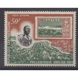 Central African Republic - 1969 - Nb PA68 - Stamps on stamps - Philately