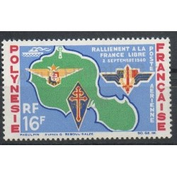 Polynesia - Airmail - 1964 - Nb PA8 - Second World war