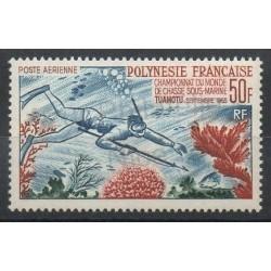 Polynésie - Poste aérienne - 1965 - No PA14 - Vie marine