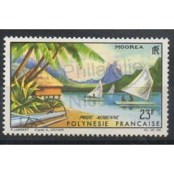 Polynésie - Poste aérienne - 1964 - No PA9 - Bateaux