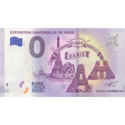 Billet souvenir - 75 - Exposition Universelle De Paris - 2019-1