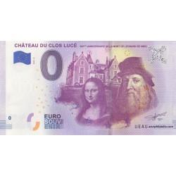 Billet souvenir - 37 - 500 ans de la mort de Léonard de Vinci - 2019-5