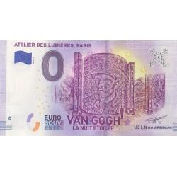 Euro banknote memory - 75 - Atelier des Lumières, Van Gogh la nuit étoilée - 2019-2