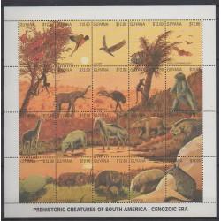 Guyana - 1991 - No 2384/2403 - Animaux préhistoriques