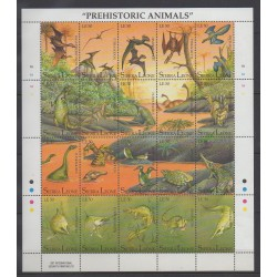 Sierra Leone - 1992 - Nb 1483/1502 - Prehistoric animals