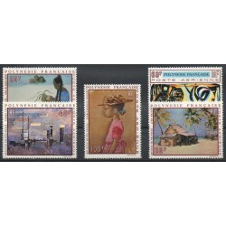 Polynesia - Airmail - 1970 - Nb PA40/PA44 - Paintings
